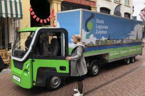 Nieuwe elektrische vrachtwagen stadsdistributie in gebruik genomen