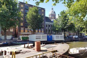 """Minder CO2-uitstoot door bouwlogistiek over water: """"Amsterdam vaart"""""""