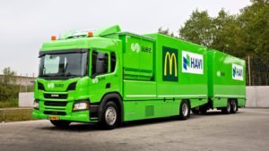 SUEZ, Scania en HAVI slaan de handen ineen voor de verdere verduurzaming van de logistieke activiteiten bij McDonalds