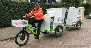 Mogelijk binnenkort elektrische afvalverzamelfiets in Nederlandse gemeenten