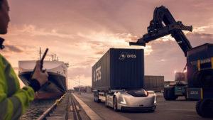 Volvo Trucks' zelfrijdende en elektrische transportoplossing Vera ingezet in logistiek proces