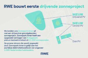 RWE bouwt eerste drijvende zonneproject: 13.400 zonnepanelen op een meer