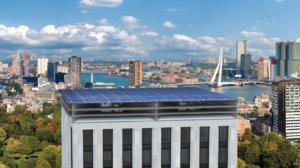 PowerNEST voor op dak wekt zowel zonne- als windenergie op