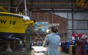 Doop elektrisch inspectievaartuig scheepswerf Koninklijke Niestern Sander