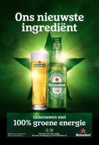 Heineken® bier voor Nederlandse markt 100% groen gebrouwen