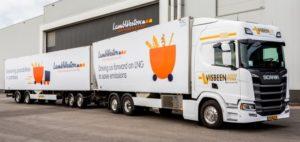 Lamb Weston / Meijer kiest voor duurzamer fritestransport met een LZV op LNG tussen fabriek en vrieshuis