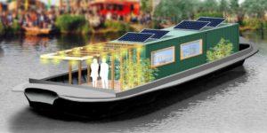 Asfalt gerecycled als duurzame ballast biogasboot