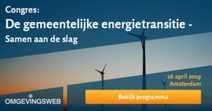 Congres 16 april De gemeentelijke energietransitie – samen aan de slag