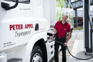 Eerste 100% elektrische trekker voor Peter Appel Transport