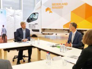 Koning Willem-Alexander sprak met sector over energietransitie en corona