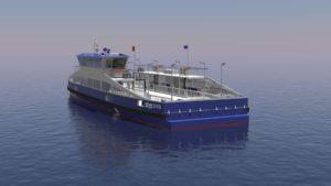 Vanaf 2021 volledig nieuwe en elektrische Noordzeekanaal veerponten