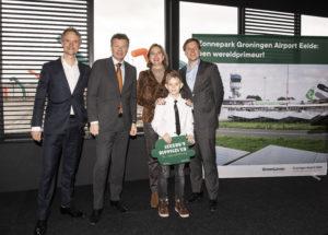 Groningen Airport Eelde zet met opening zonnepark eerste stap in duurzame groei luchthavens