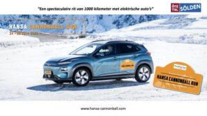 Hansa Cannonball Run 2020! Spectaculaire rit van 1000 km met elektrische auto's