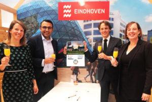 Gemeente Eindhoven en Ballast Nedam Development tekenen 'Gezonde Verstedelijking Akkoord' tijdens Expo Real 2019