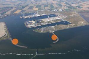 Windturbines op pieren Eemshaven stap dichterbij