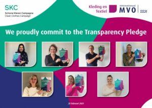 Convenant: kledingbedrijven vergroten transparantie met ondertekenen Transparency Pledge