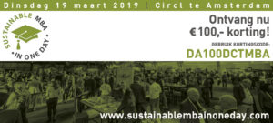 Engelstalige editie Sustainable MBA in One Day:  Dinsdag 19 maart, Circl te Amsterdam