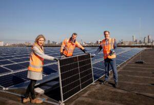 Dak Rotterdam Ahoy vormt bron van duurzame energie