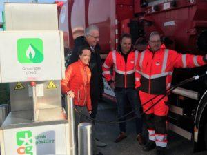 Rijden op afval: OrangeGas opent nieuw station in gemeente Waadhoeke