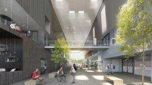 Startsein bouw nieuw energieneutraal sportgebouw campus Woudestein