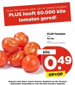 PLUS helpt telers en redt 60.000 kilo tomaten van vernietiging