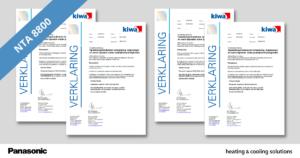 Nieuwe NTA8800-kwaliteitsverklaringen voor Panasonic lucht-water warmtepompen