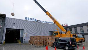 Plaatsing bij Begra 840 nieuwe zonnepanelen