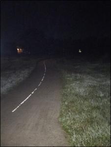 Onderzoek duurzame verlichting fietspad Beilen Westerbork door studentes