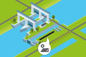 Rijkswaterstaat start aanleg zonnepanelenpark Prinses Beatrixsluizen